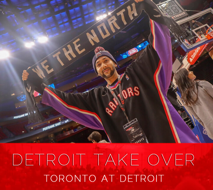 Toronto Raptors at Detroit Pistons Bus Tour