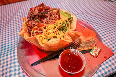 Taco Salad at Billy Bob's Texas Honky Tonk Kitchen BBQ