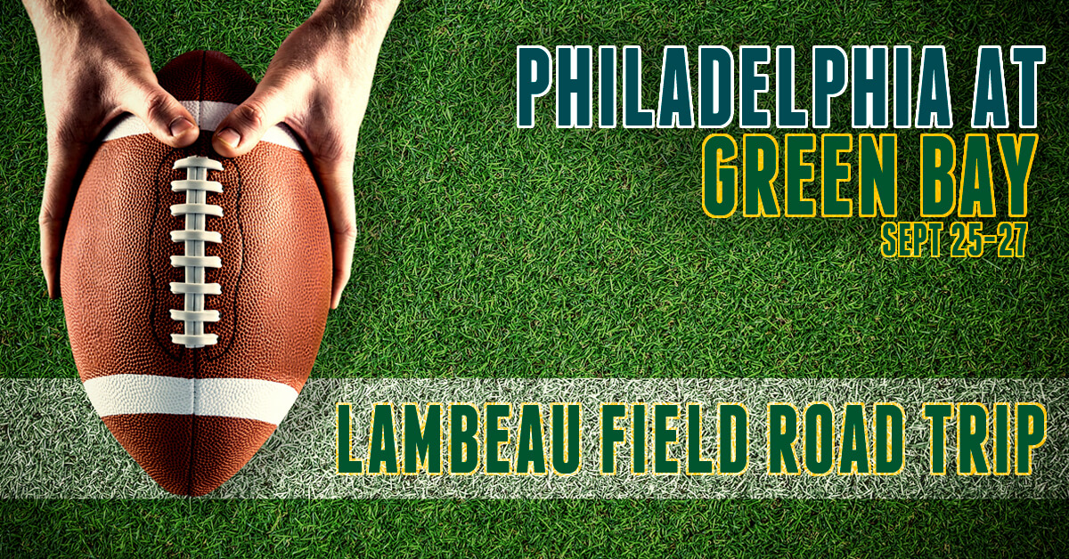 Philadelphia Eagles at Green Bay Packers- Lambeau Field Bus Tour