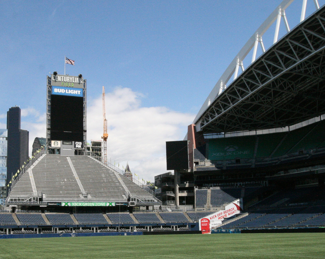 Where do the Seattle Seahawks play football?