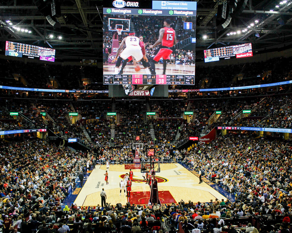 Where do the Cleveland Cavaliers play basketball?