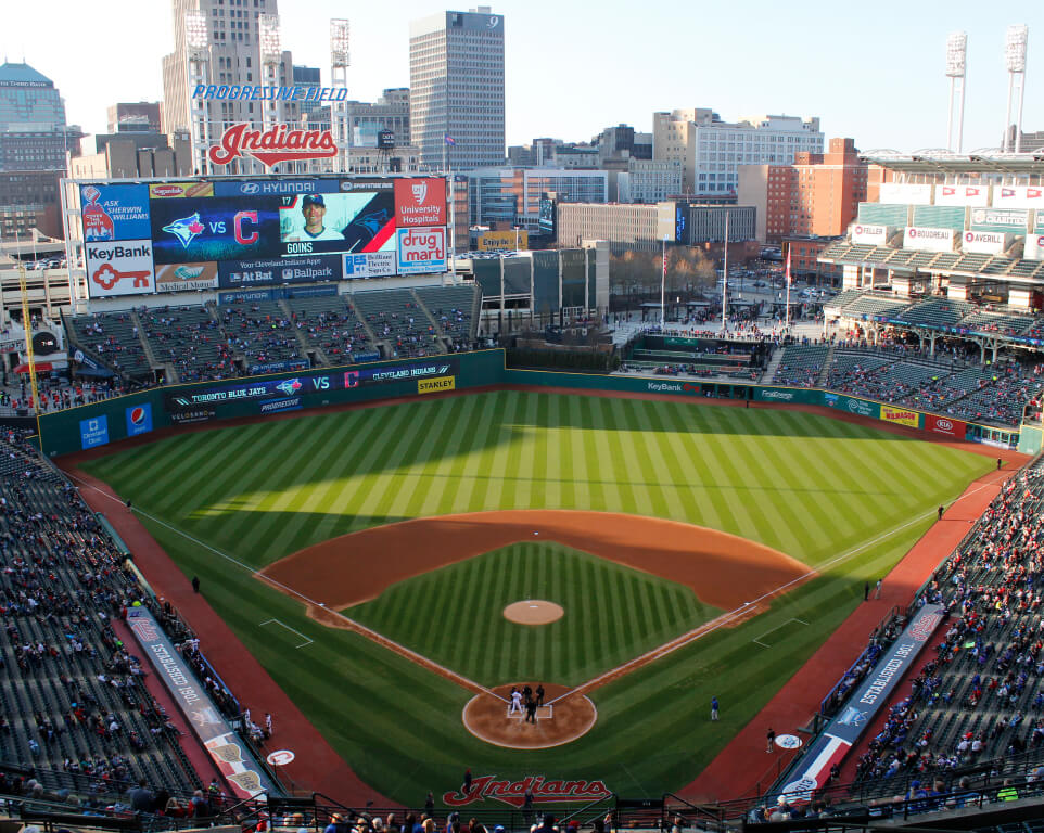 Where do the Cleveland Indians play baseball?