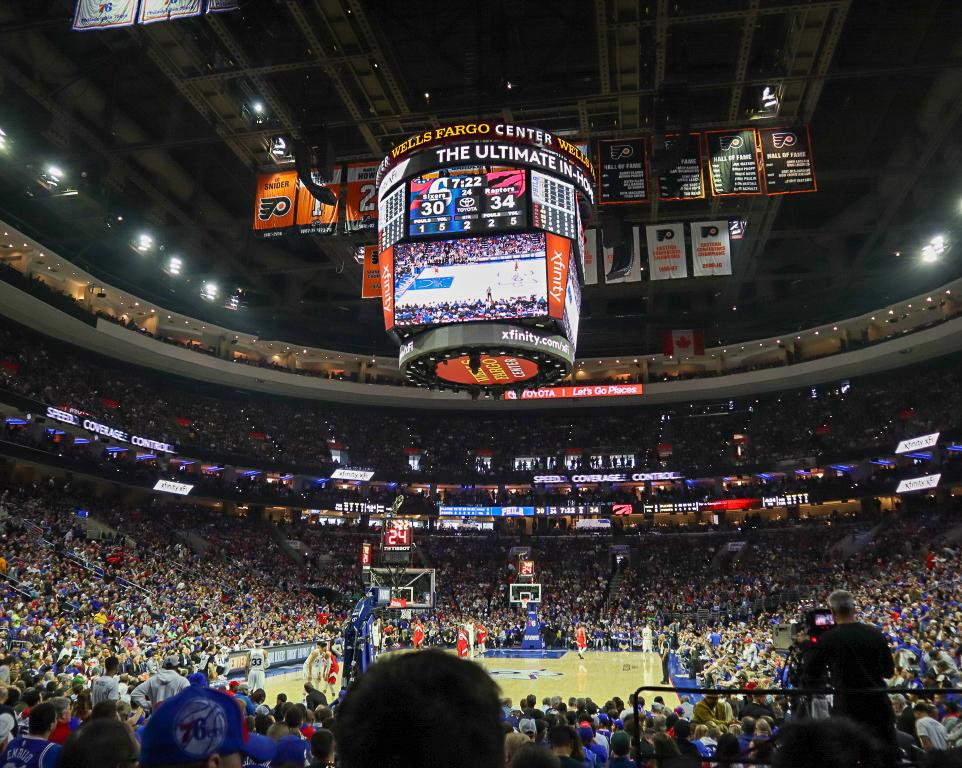Where do the Philadelphia 76ers play basketball?