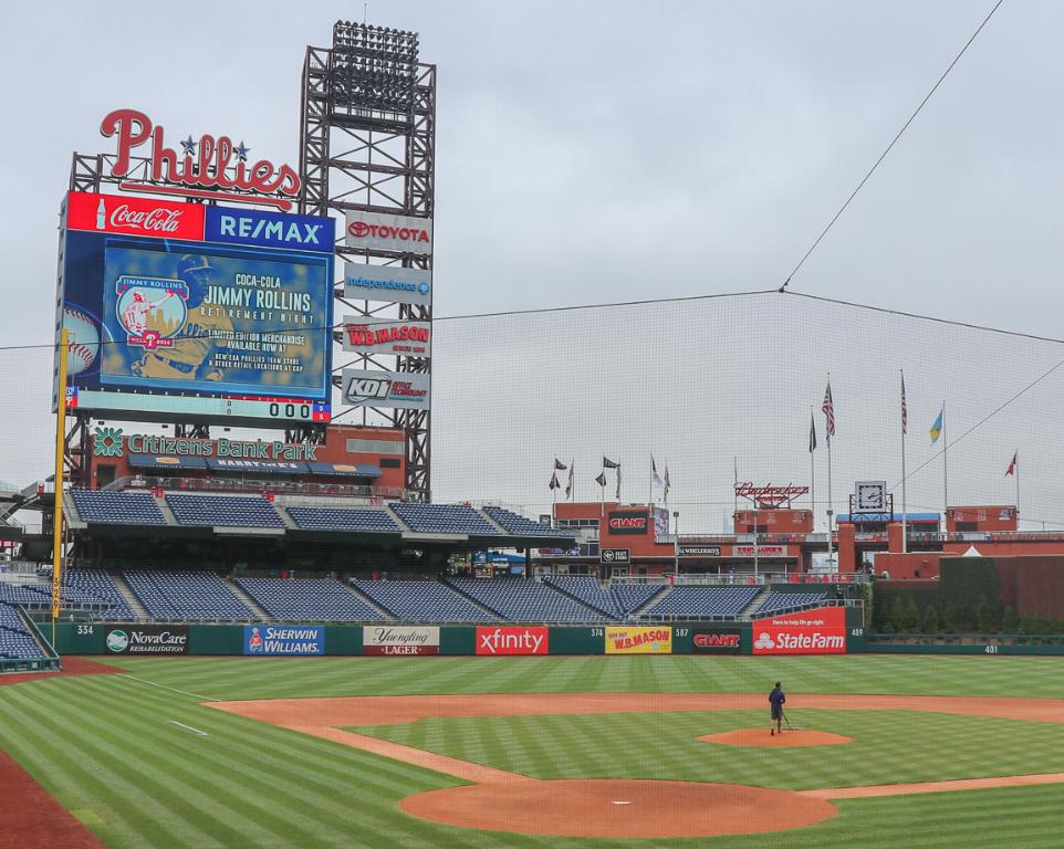 Where do the Philadelphia Phillies play baseball?
