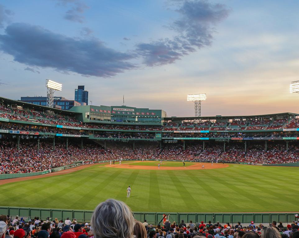 Where do the Boston Red Sox play baseball?