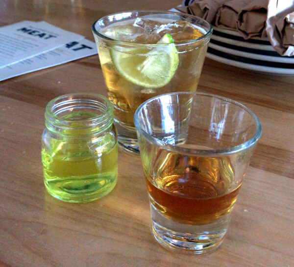 Pickle Back Bourbon Shot