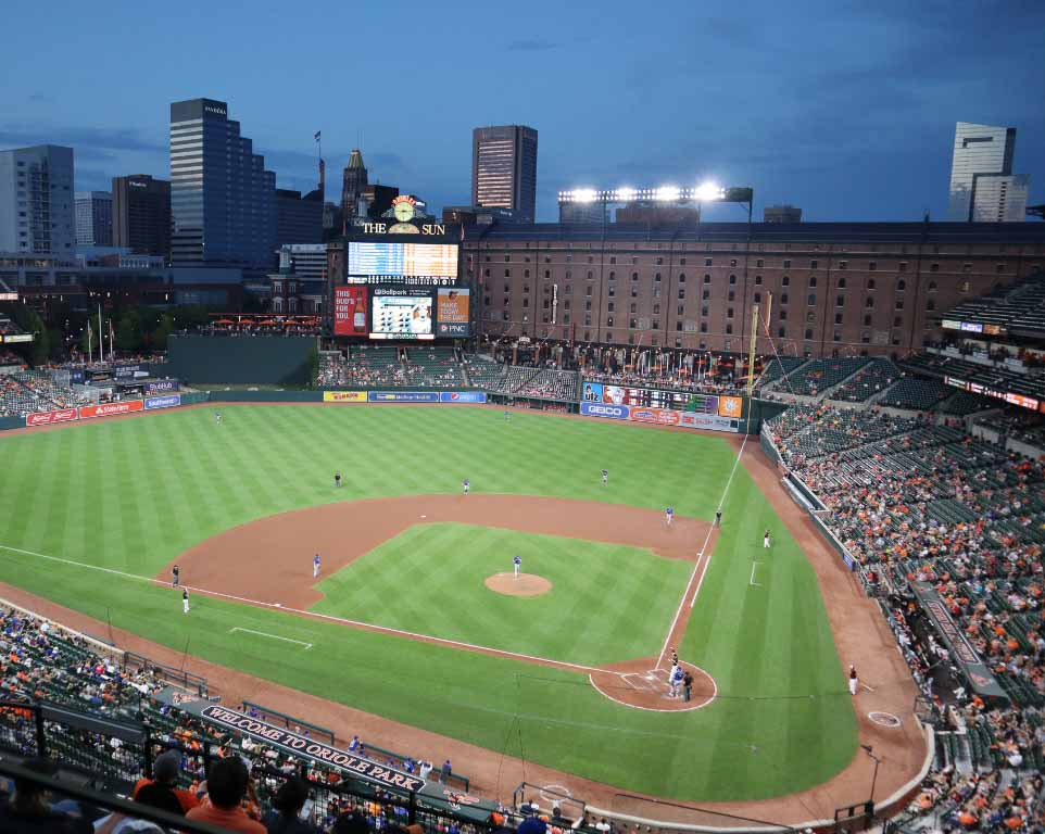 Where do the Baltimore Orioles play baseball?