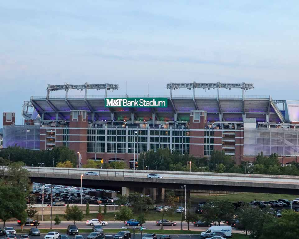 Where do the Baltimore Ravens play football?
