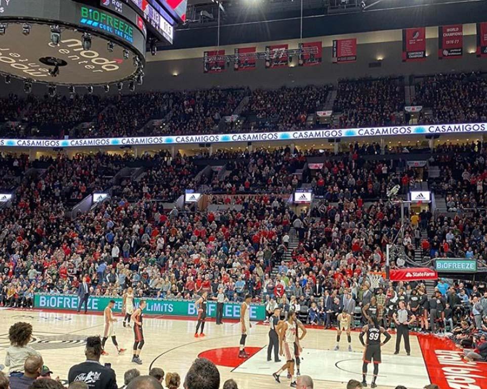 Where do the Portland Trail Blazers play basketball?