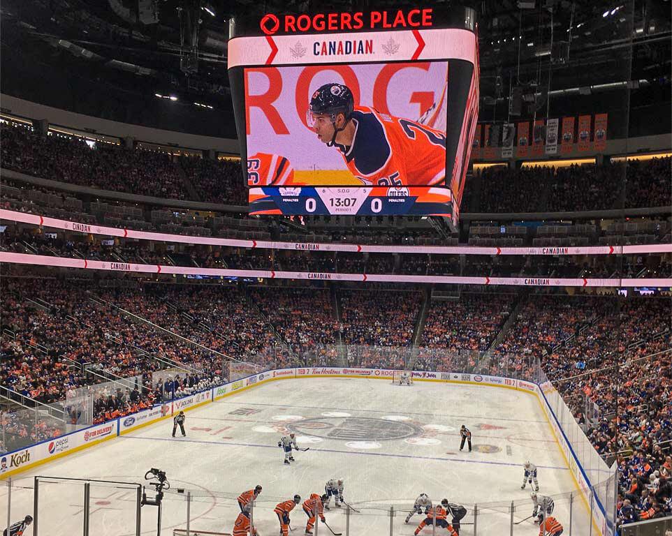 Where do the Edmonton Oilers play hockey?