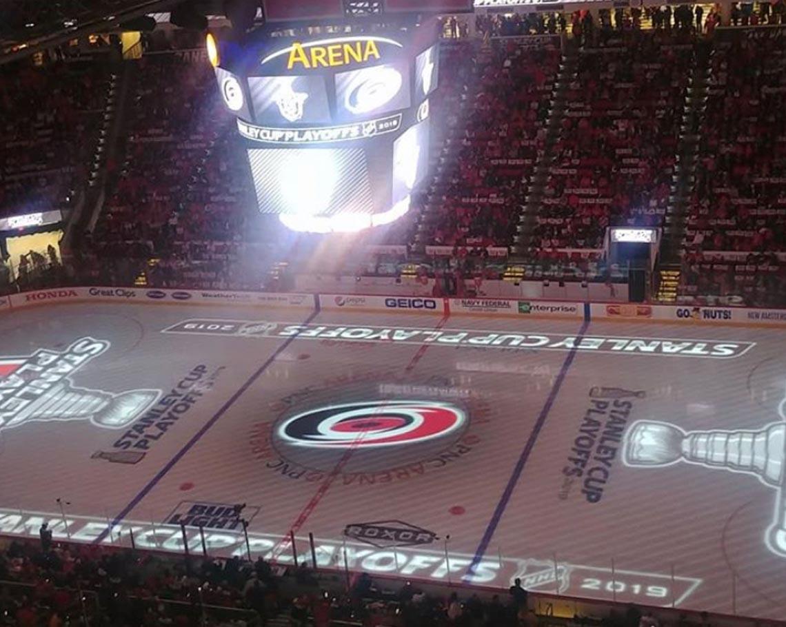 Where do the Carolina Hurricanes play hockey?