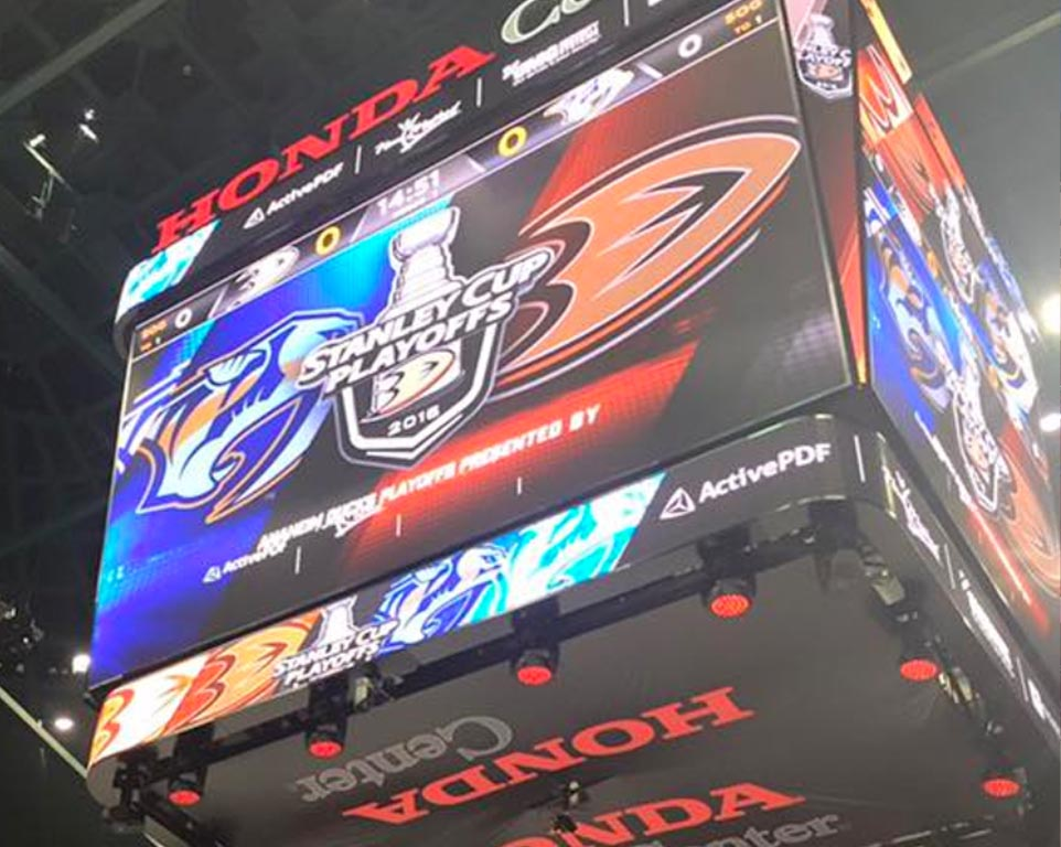 Where do the Anaheim Ducks play hockey?