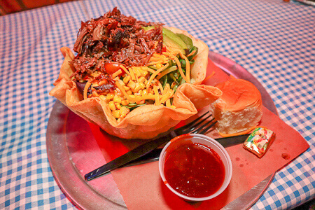 Taco Salad at Billy Bob's Texas Honky Tonk Kitchen BBQ