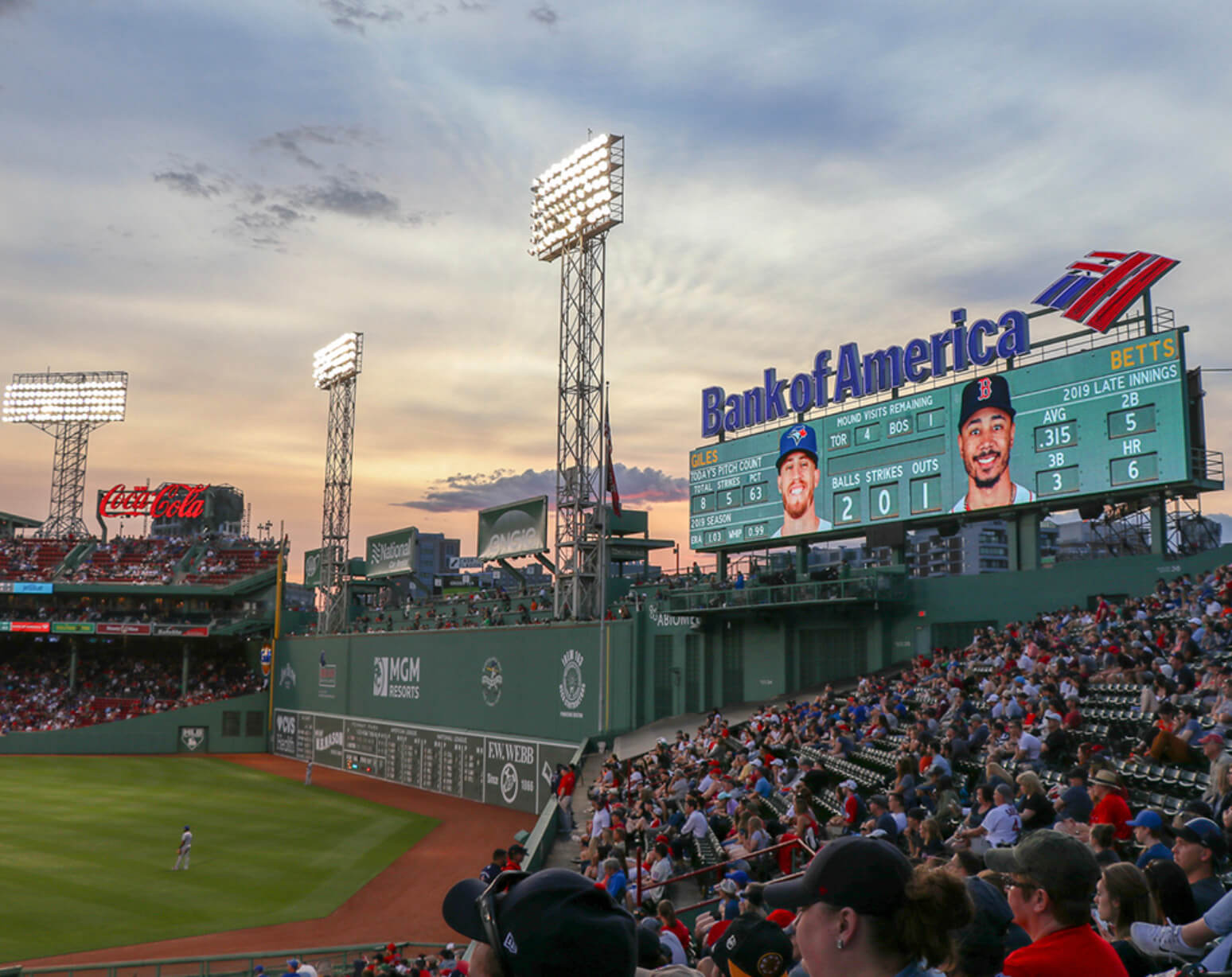 Where do the Boston Red Sox play baseball?