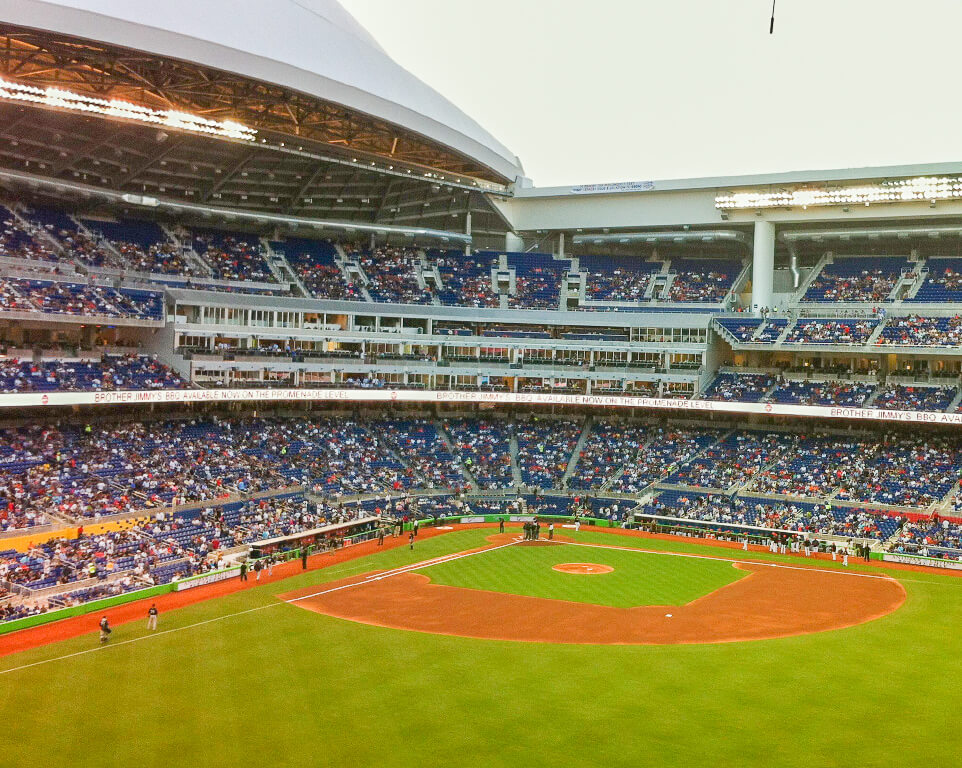 Where do the Miami Marlins play baseball?