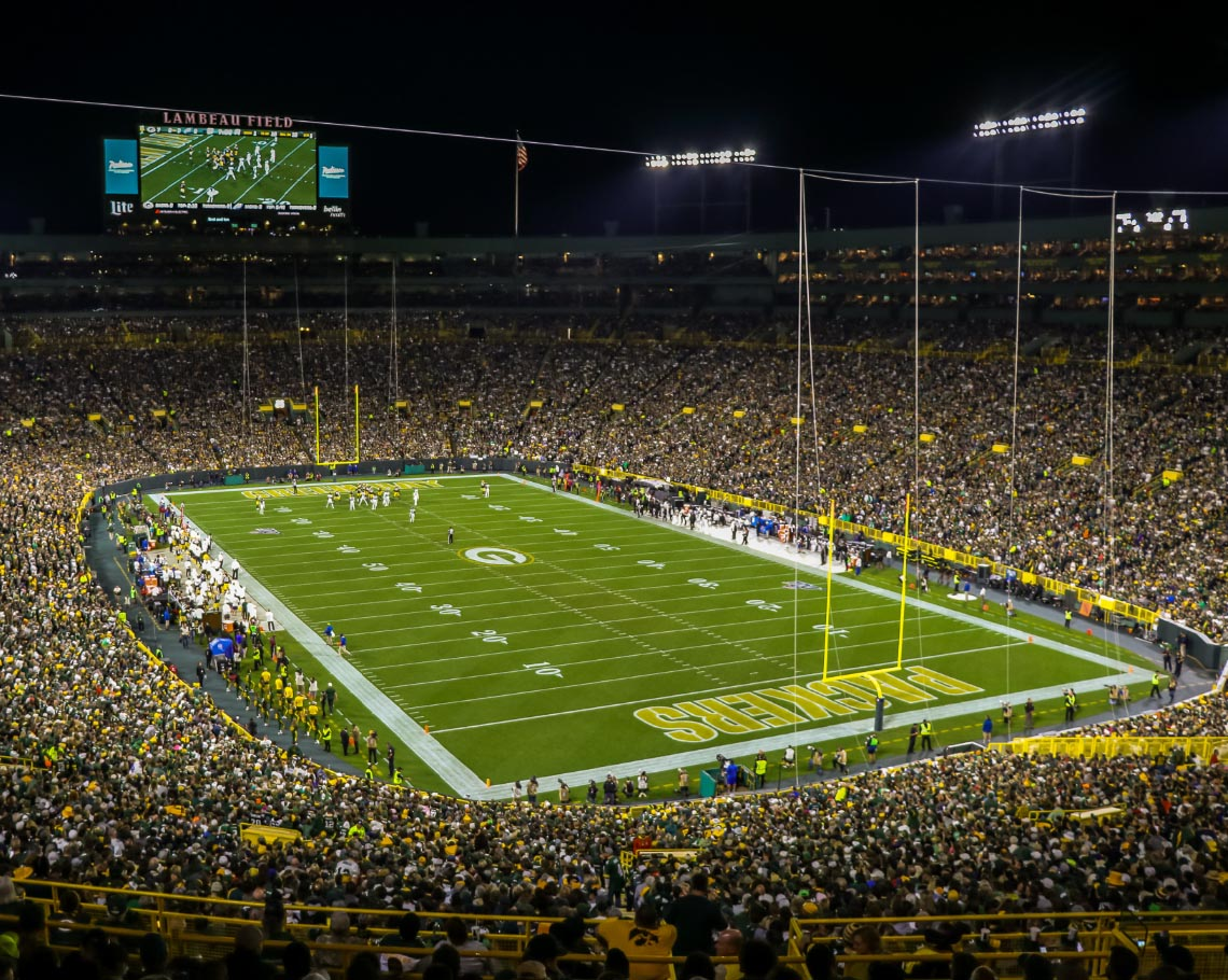 Where do the Green Bay Packers play football?