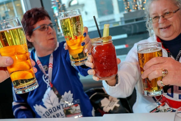 Toronto Maple Leafs at Montreal Canadiens Bus Tour Pre-Party Houston Avenue Bar & Grill Victoria Square Montreal